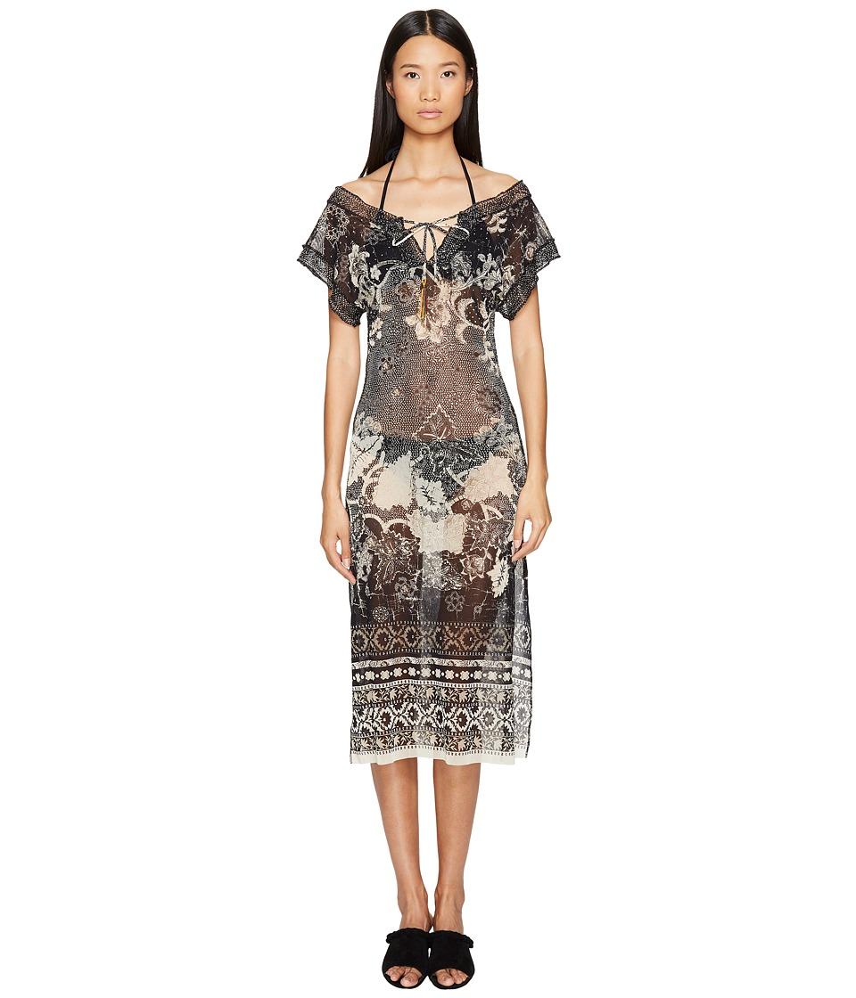 FUZZI - Single Layer Batic Cover-Up (Nero) Women's Dress
