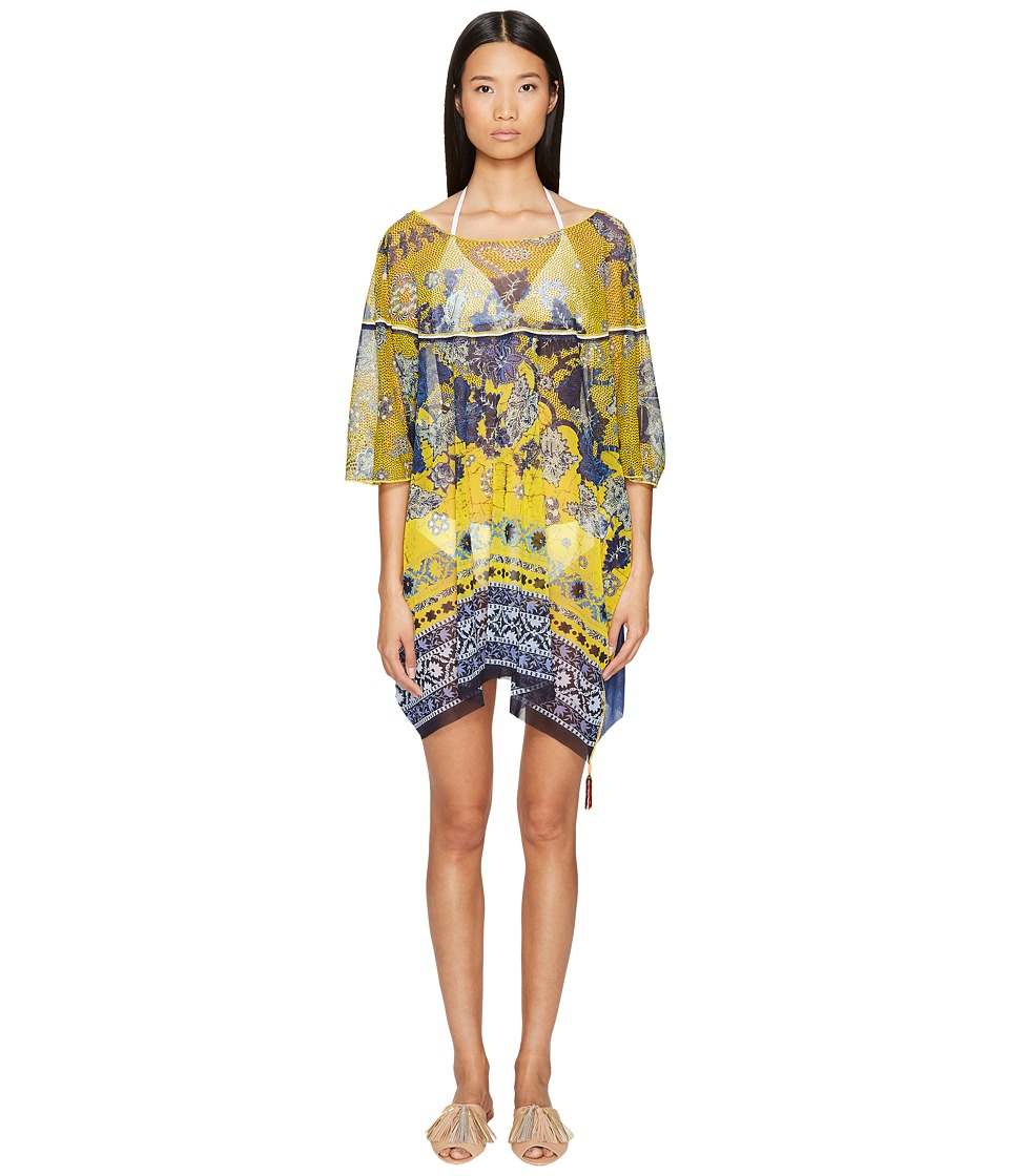 FUZZI - Single Layer Poncho Cover-Up (Inca) Women's Dress