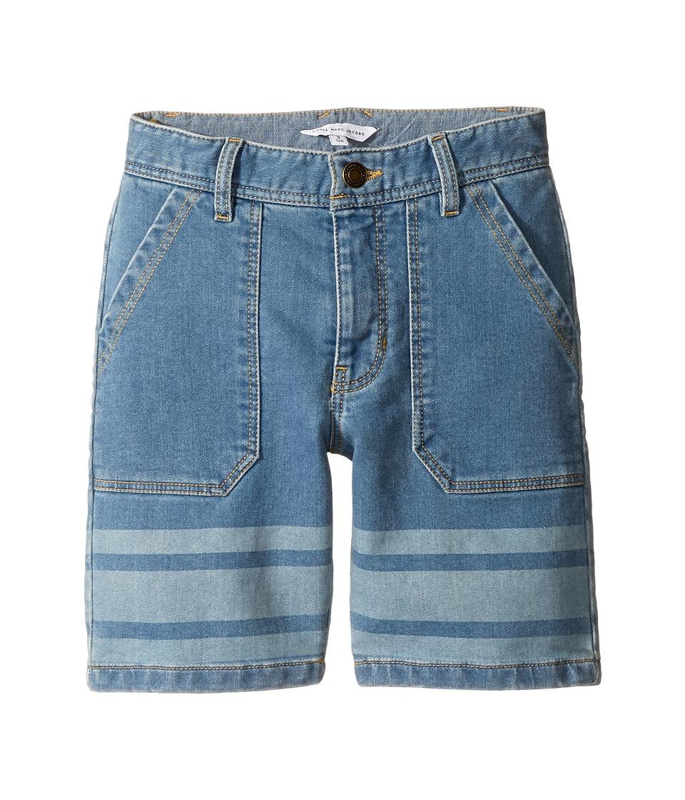 Little Marc Jacobs - Denim Effect Shorts (Little Kids/Big Kids) (Bleach) Boy's Shorts