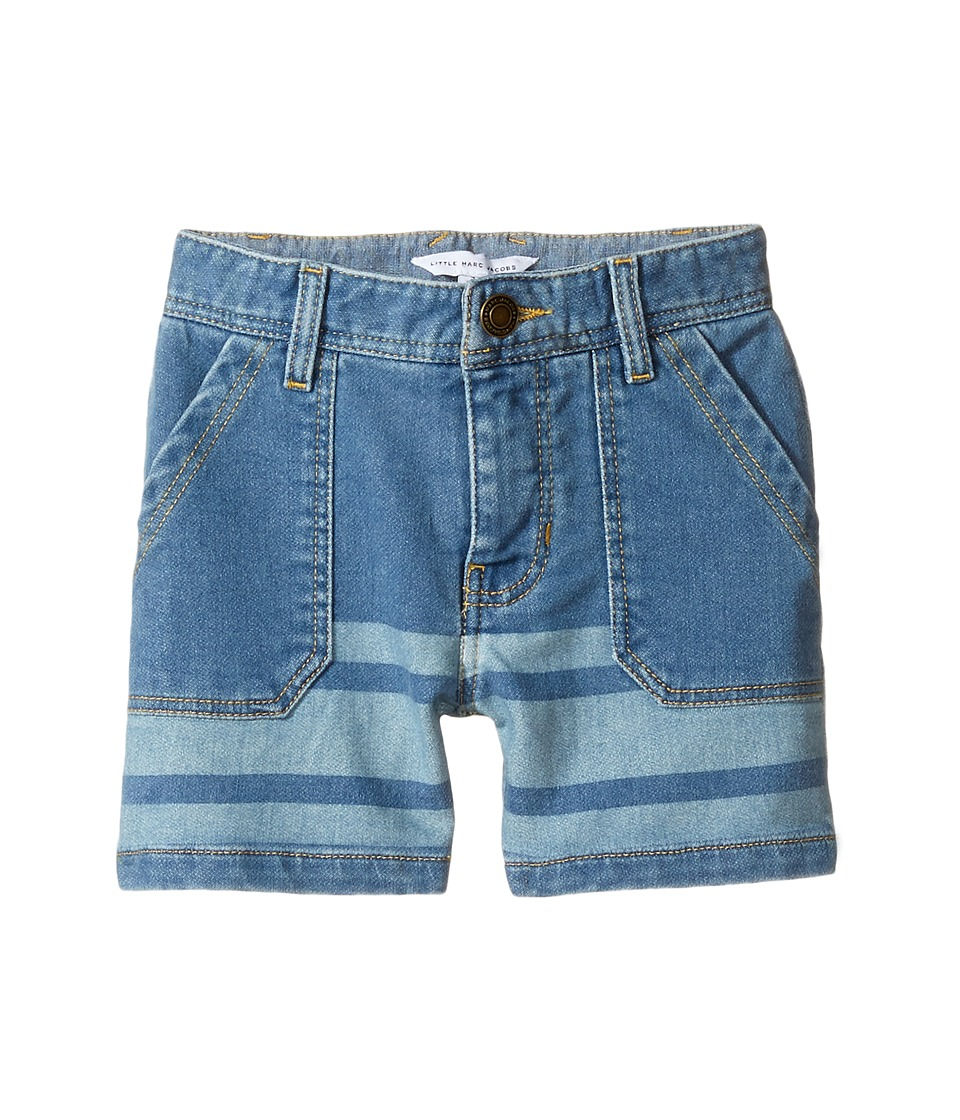 Little Marc Jacobs - Denim Effect Shorts (Toddler/Little Kids) (Bleach) Boy's Shorts
