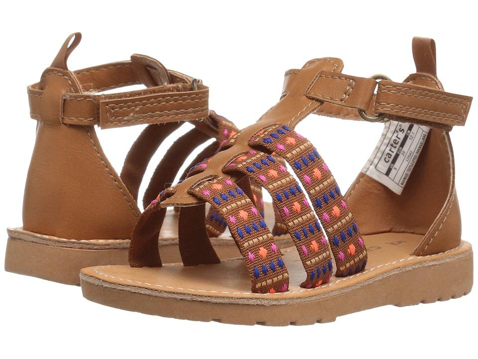 Carters - Luna 2 (Toddler/Little Kid) (Brown) Girl's Shoes