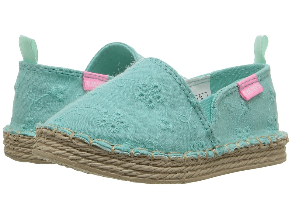 Carters - Astrid 2-C (Toddler/Little Kid) (Turquoise) Girl's Shoes