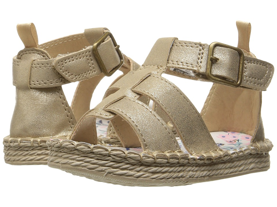Carters - Trixie 2 (Toddler/Little Kid) (Gold) Girl's Shoes