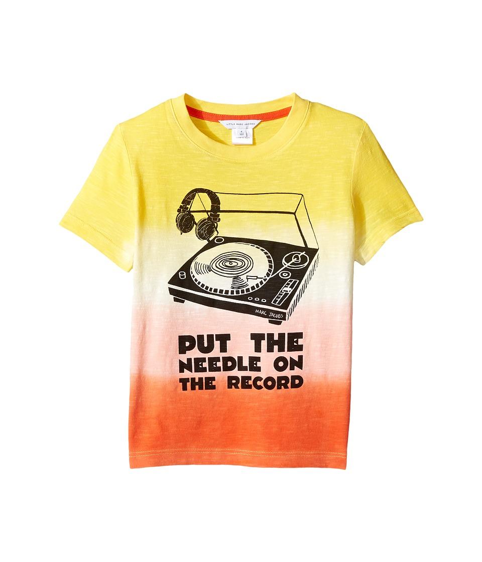 Little Marc Jacobs - Record Short Sleeve Tee Shirt (Toddler/Little Kids) (Jaune/Rouge) Boy's T Shirt