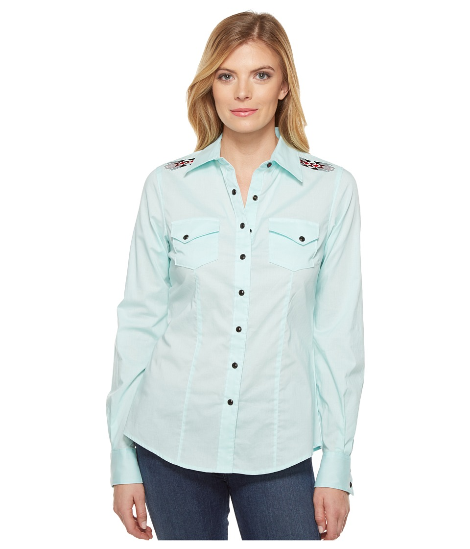 Cruel - Long Sleeve Arena Fit Plain Weave (Light Blue) Women's Clothing