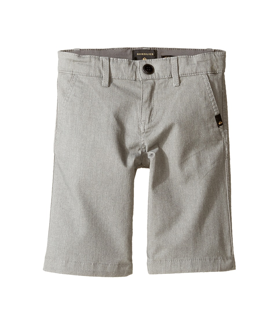 Quiksilver Kids - Everyday Union Stretch Walkshorts (Toddler/Little Kids) (Light Grey Heather) Boy's Shorts