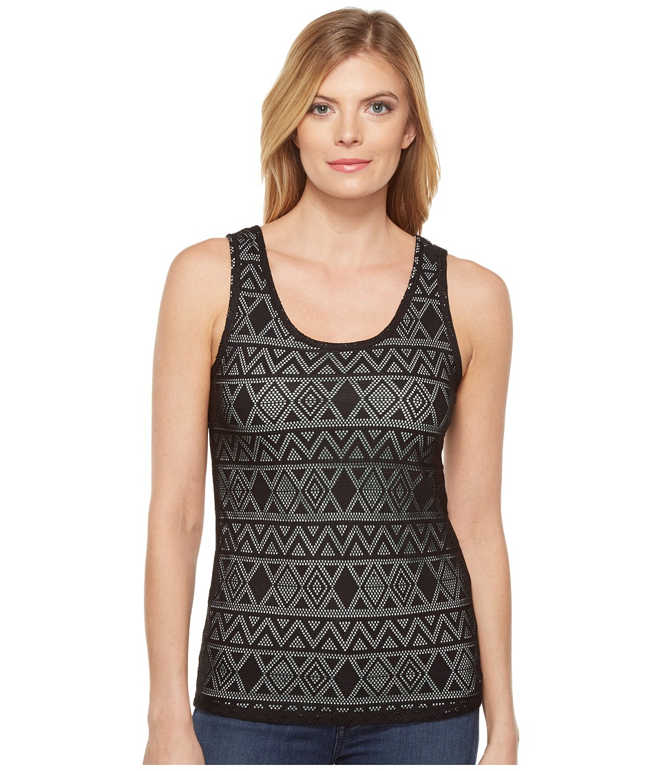 Cruel - Long Lean Tank Top Tribal Lace (Black) Women's Sleeveless