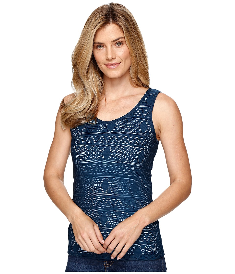 Cruel - Long Lean Tank Top Tribal Lace (Navy) Women's Sleeveless