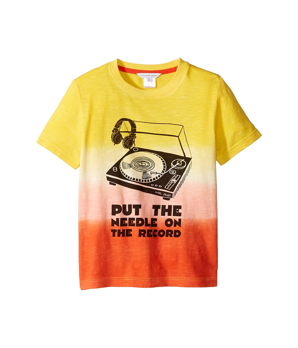 Little Marc Jacobs - Record Short Sleeve Tee Shirt (Little Kids/Big Kids) (Jaune/Rouge) Boy's T Shirt