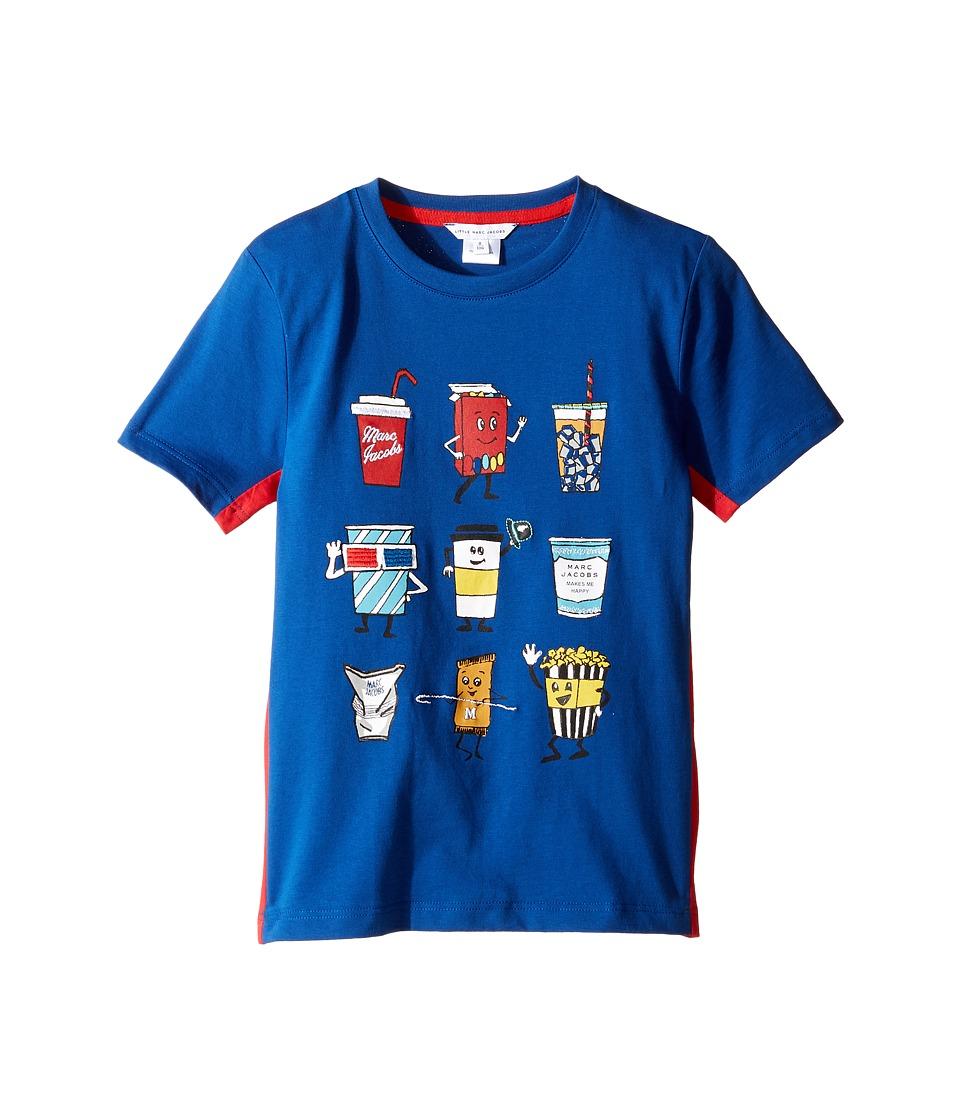 Little Marc Jacobs - Movie Or Animation Prints Short Sleeve Tee Shirt (Little Kids/Big Kids) (Cobalt) Boy's T Shirt