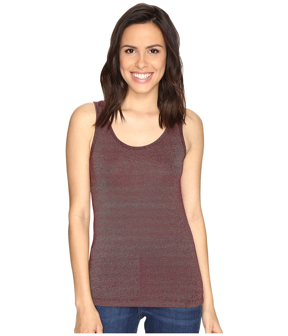 Cruel - Long Lean Tank Top Metallic Screenprint (Burgundy) Women's Sleeveless