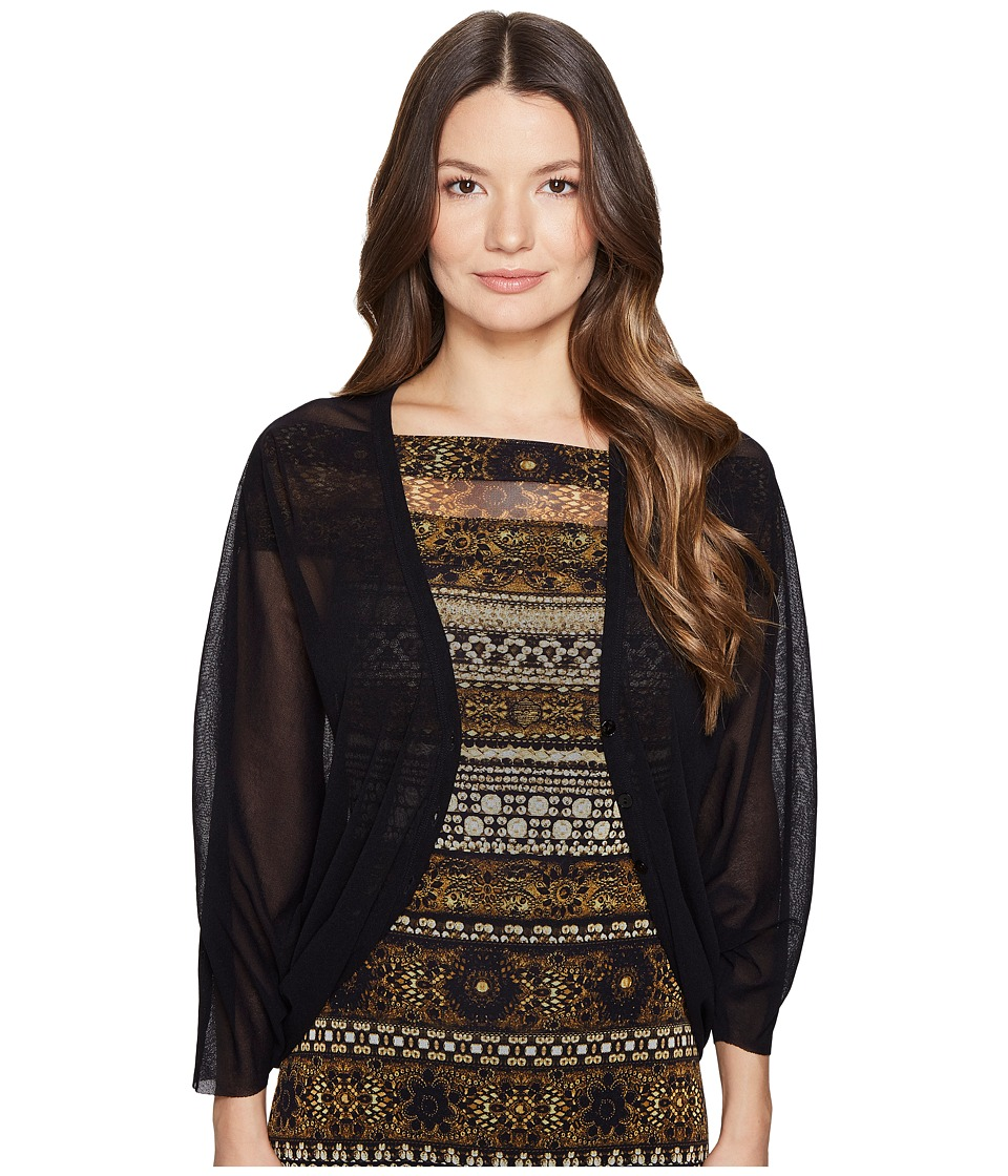 FUZZI - Cocoon Cardigan (Nero) Women's Sweater