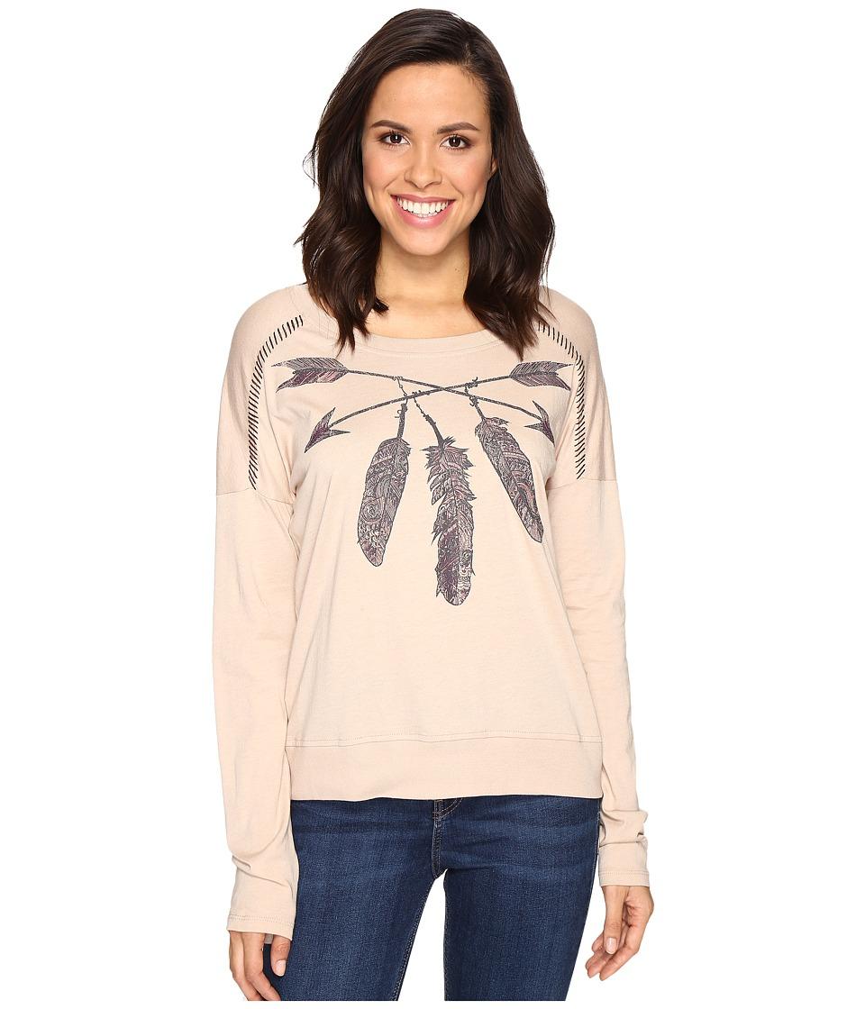 Cruel - Long Sleeve Cotton/Modal Jersey (Beige) Women's Clothing