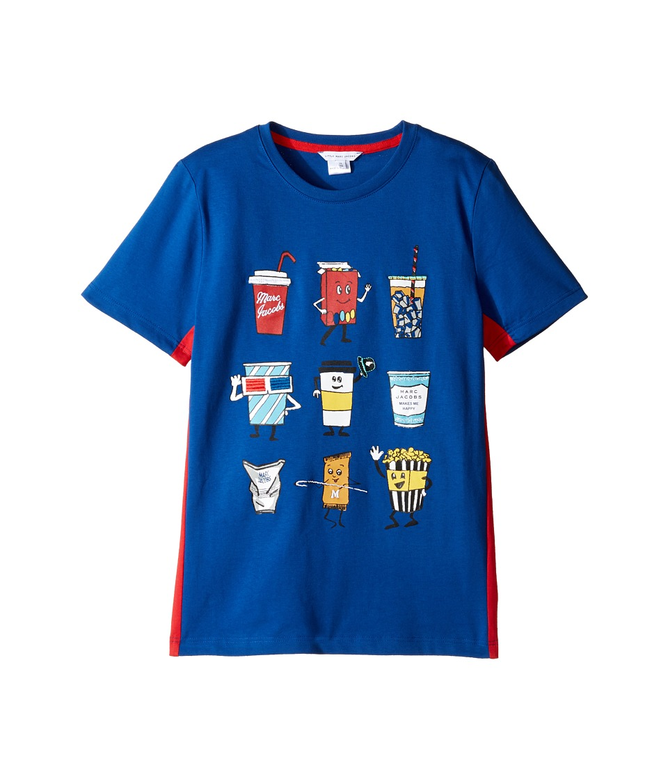 Little Marc Jacobs - Movie Or Animation Prints Short Sleeve Tee Shirt (Big Kids) (Cobalt) Boy's T Shirt