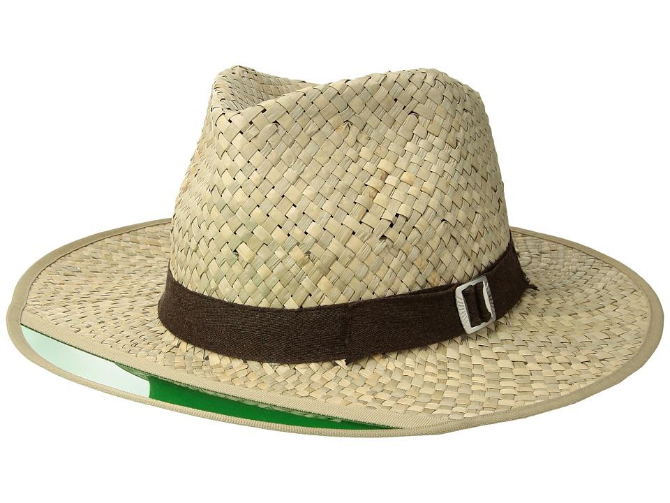 Brixton - Hunter Fedora (Tan 1) Fedora Hats