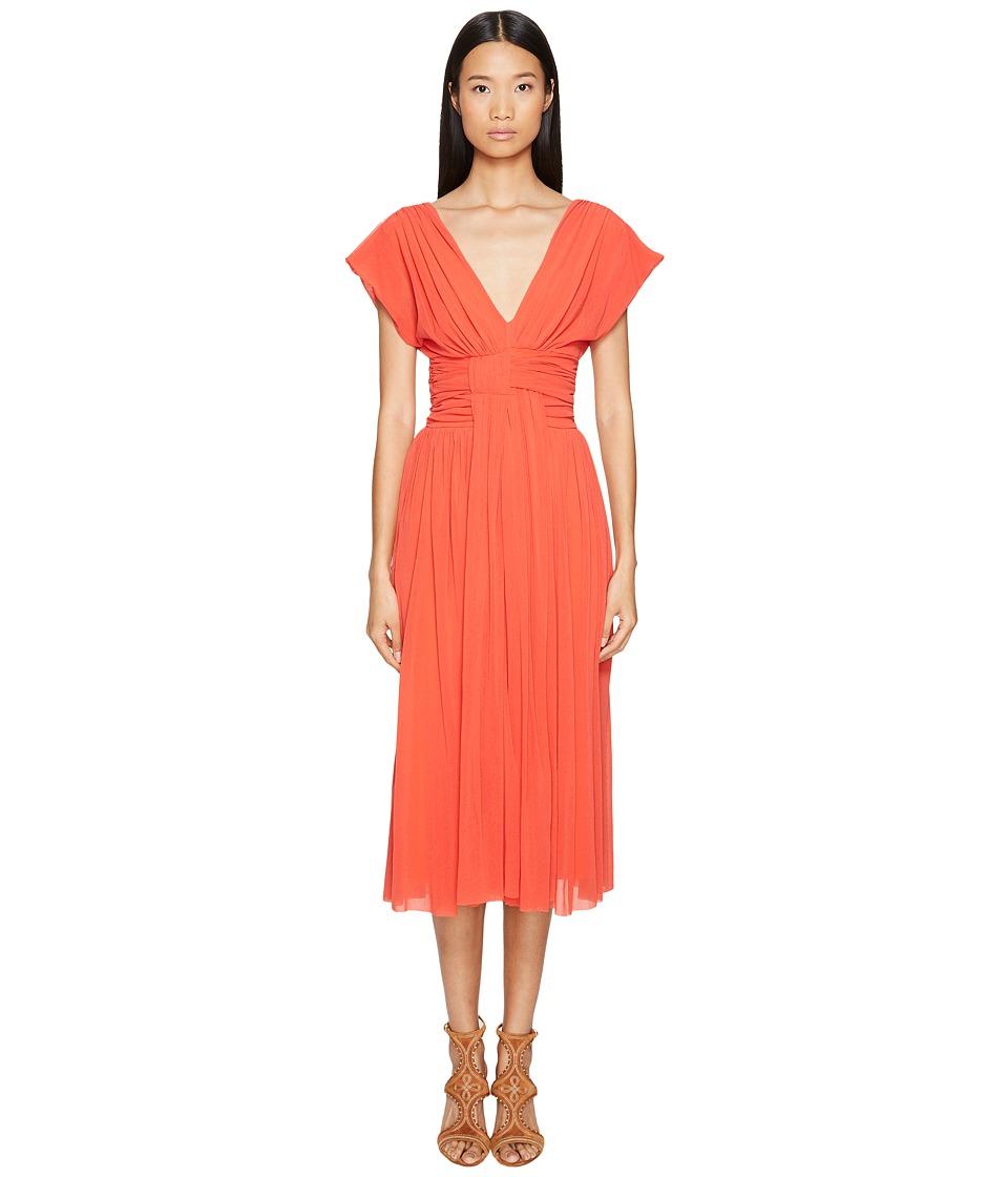 FUZZI - Solid Cocktail Dress (Arancione) Women's Dress
