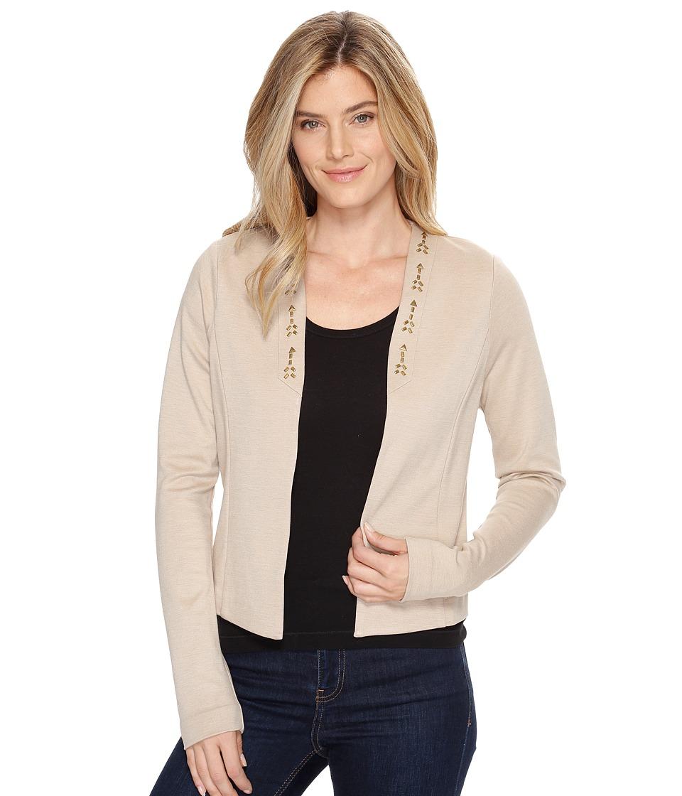Cruel - Studs Detail Ponte Knit Blazer (Beige) Women's Jacket