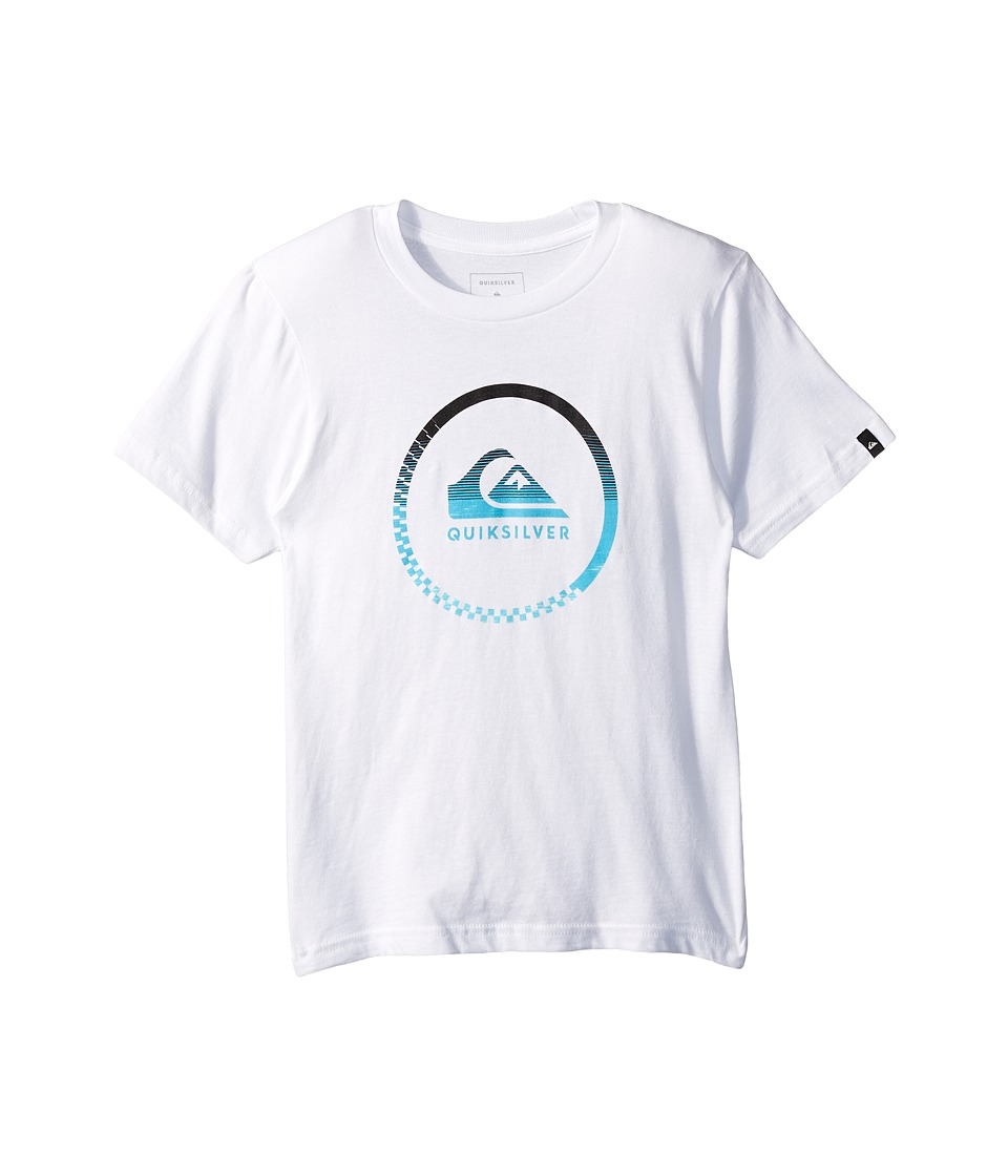 Quiksilver Kids - Active Momentum Youth (Big Kids) (White) Boy's T Shirt