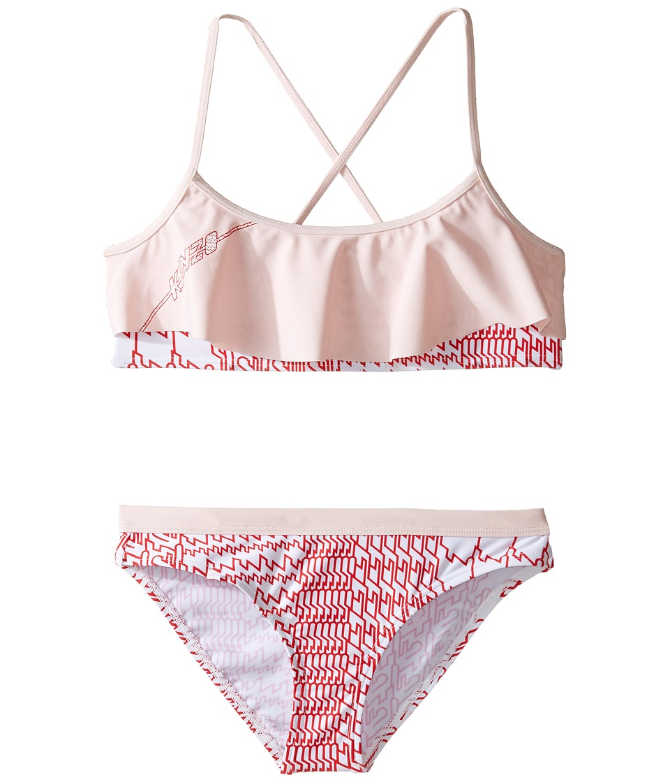 Kenzo Kids - Bise Bain Two-Pieces (Big Kids) (Pink) Girl's Swimwear Sets