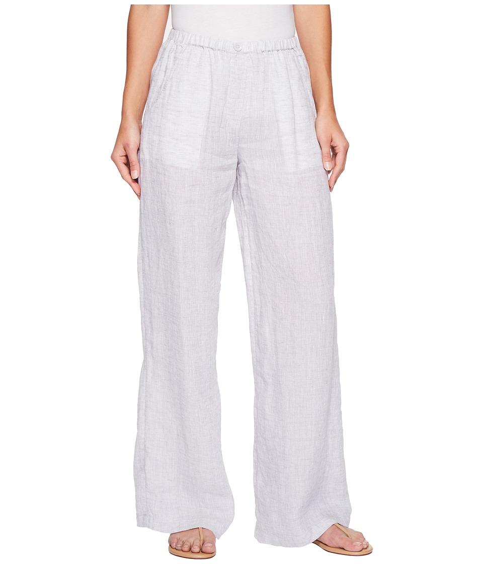 NIC+ZOE - Drifty Linen Pants (Smoke) Women's Casual Pants