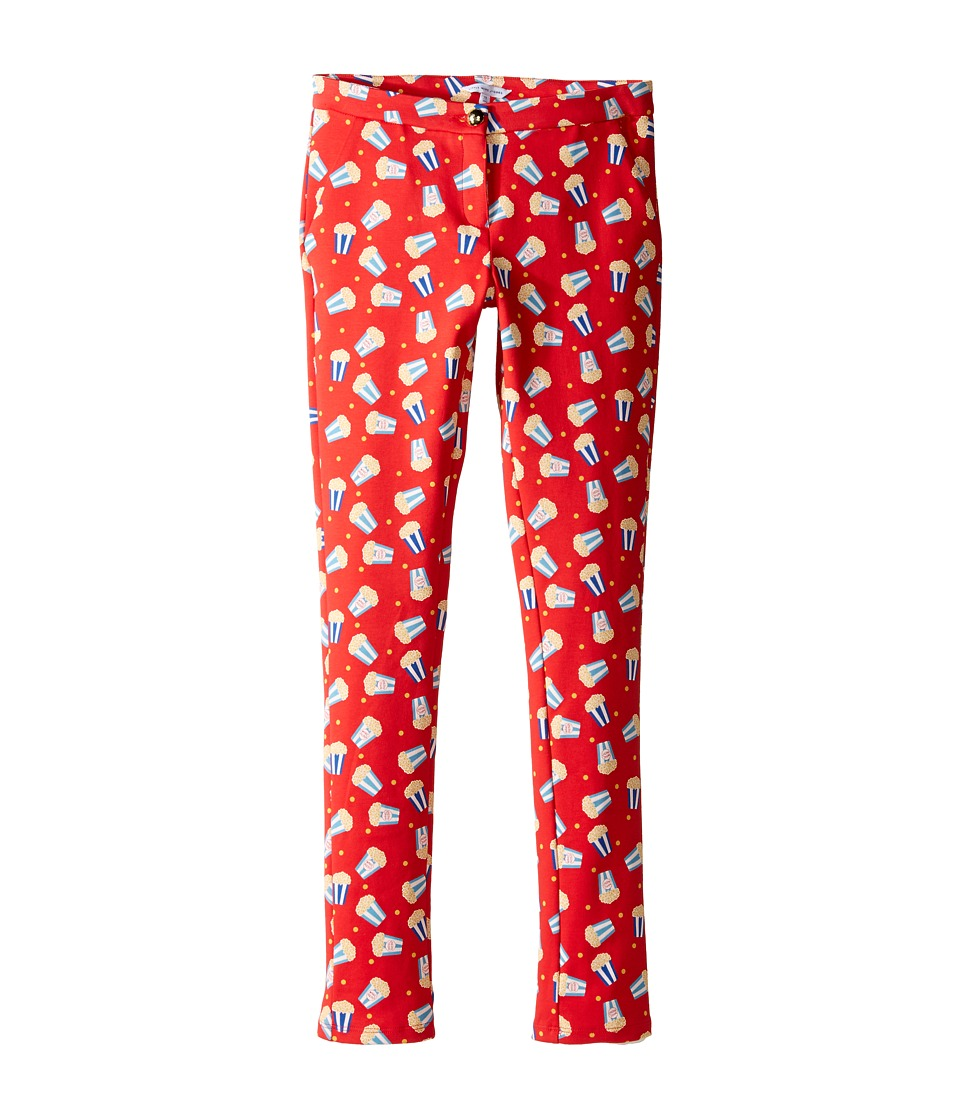 Little Marc Jacobs - All Over Printed Pop Corn Trousers (Big Kids) (Pop Red) Girl's Casual Pants