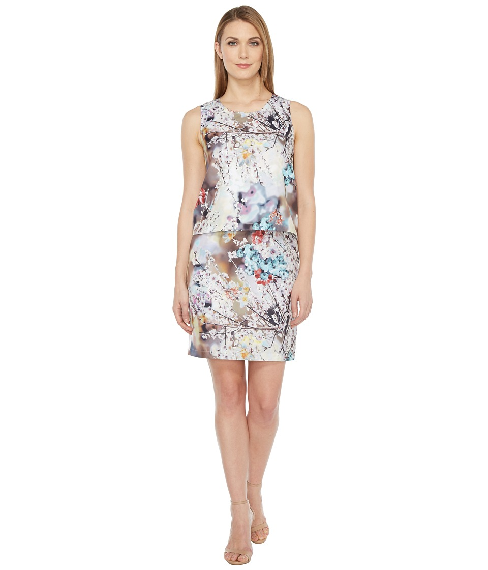 rsvp - Mica Printed Dress with Back Detail (Floral Multi) Women's Dress