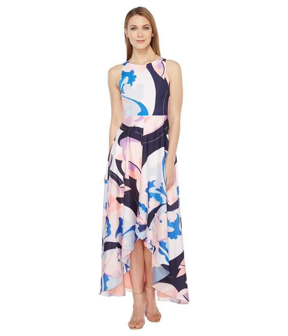 rsvp - Panna High-Low Maxi Dress with Back Cut Out (Blush Multi) Women's Dress