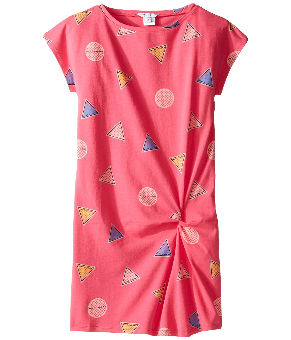 Little Marc Jacobs - All Over Printed Dress with Knotted Detail (Little Kids/Big Kids) (Rose/Blue) Girl's Dress