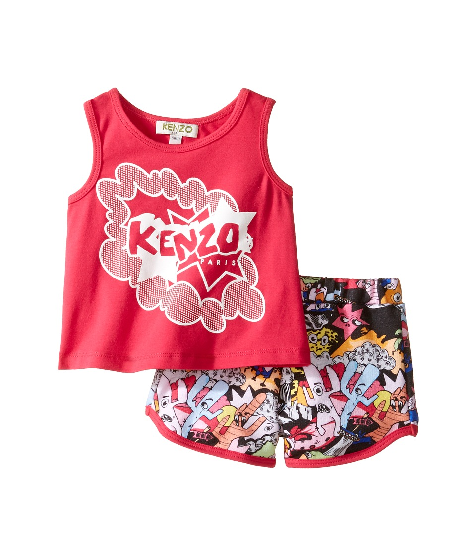 Kenzo Kids - Blush Ensemble Court (Infant) (Fuchsia) Girl's Active Sets