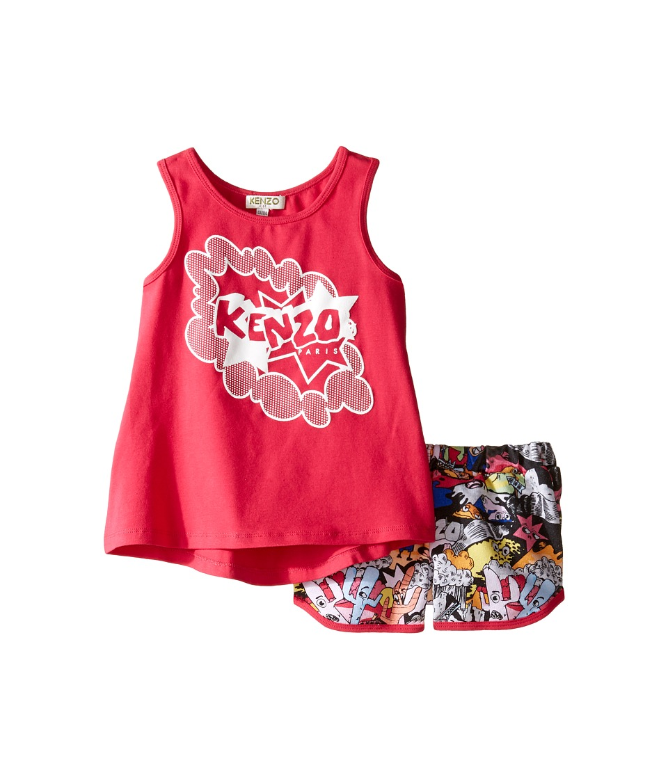Kenzo Kids - Blush Ensemble Court (Toddler) (Fuchsia) Girl's Active Sets