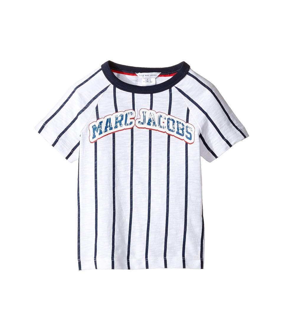 Little Marc Jacobs - Mariniere Short Sleeve Tee Shirt (Toddler/Little Kids) (Blanc/Marine) Boy's T Shirt