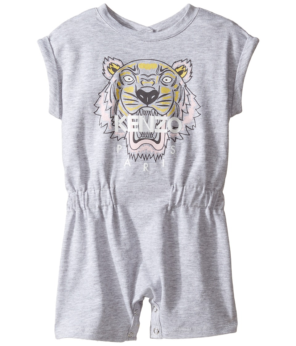 Kenzo Kids - Tiger 28 Combicourt (Infant) (Light Marl Grey) Girl's Jumpsuit & Rompers One Piece