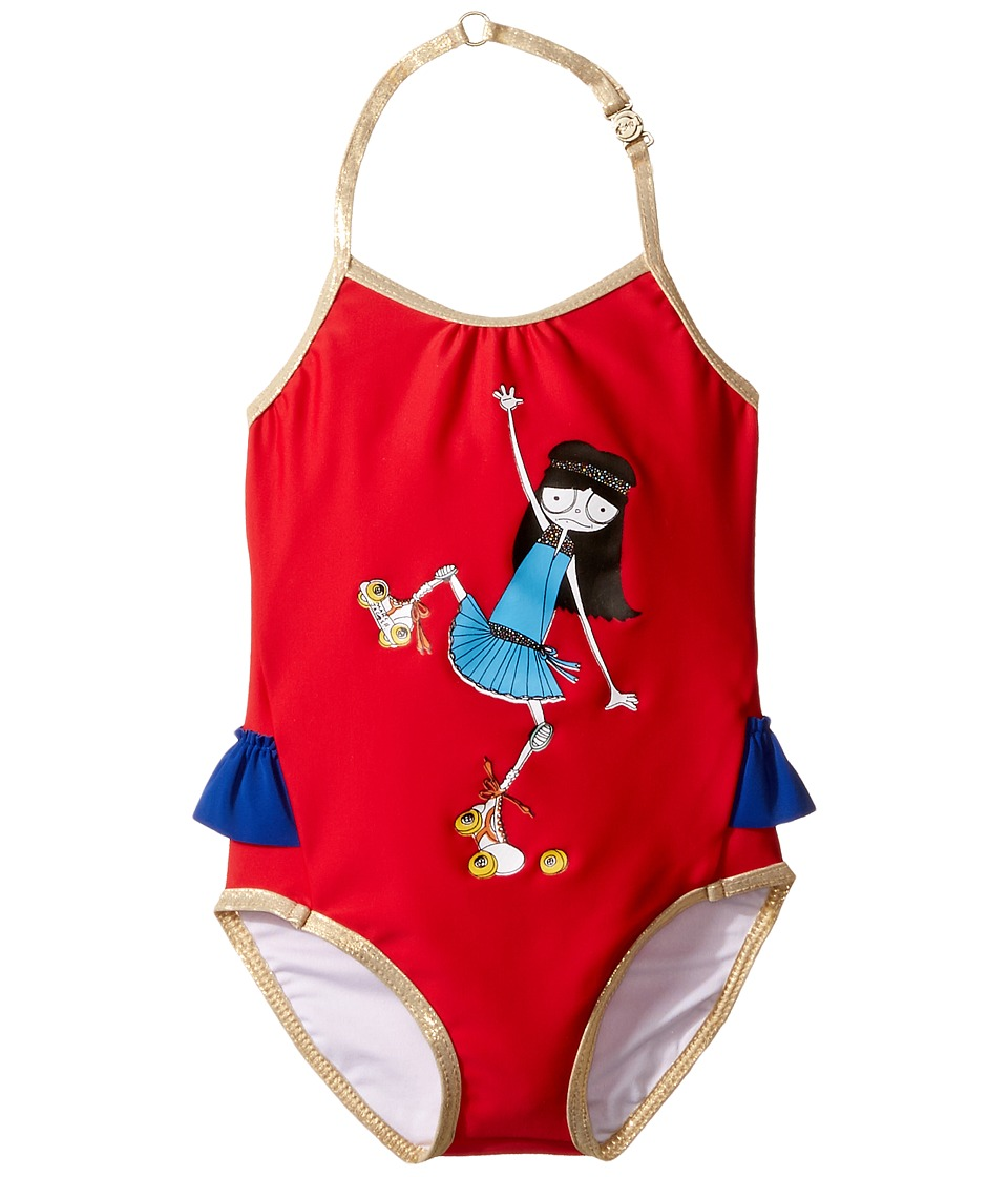 Little Marc Jacobs - Miss Marc One-Piece Swimsuit (Infant) (Pop Red) Girl's Swimsuits One Piece