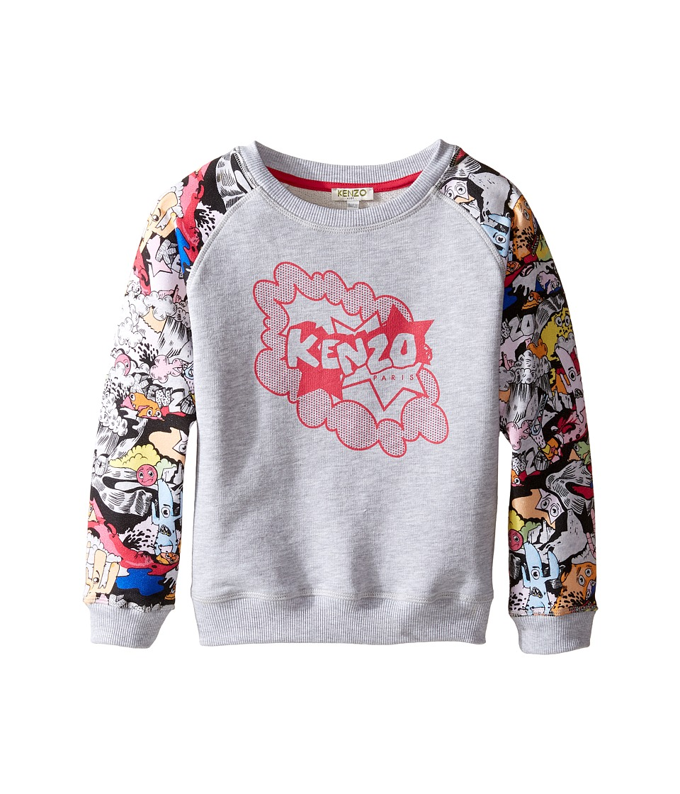 Kenzo Kids - Bellissima Sweatshirt (Big Kids) (Light Marl Grey) Girl's Sweatshirt