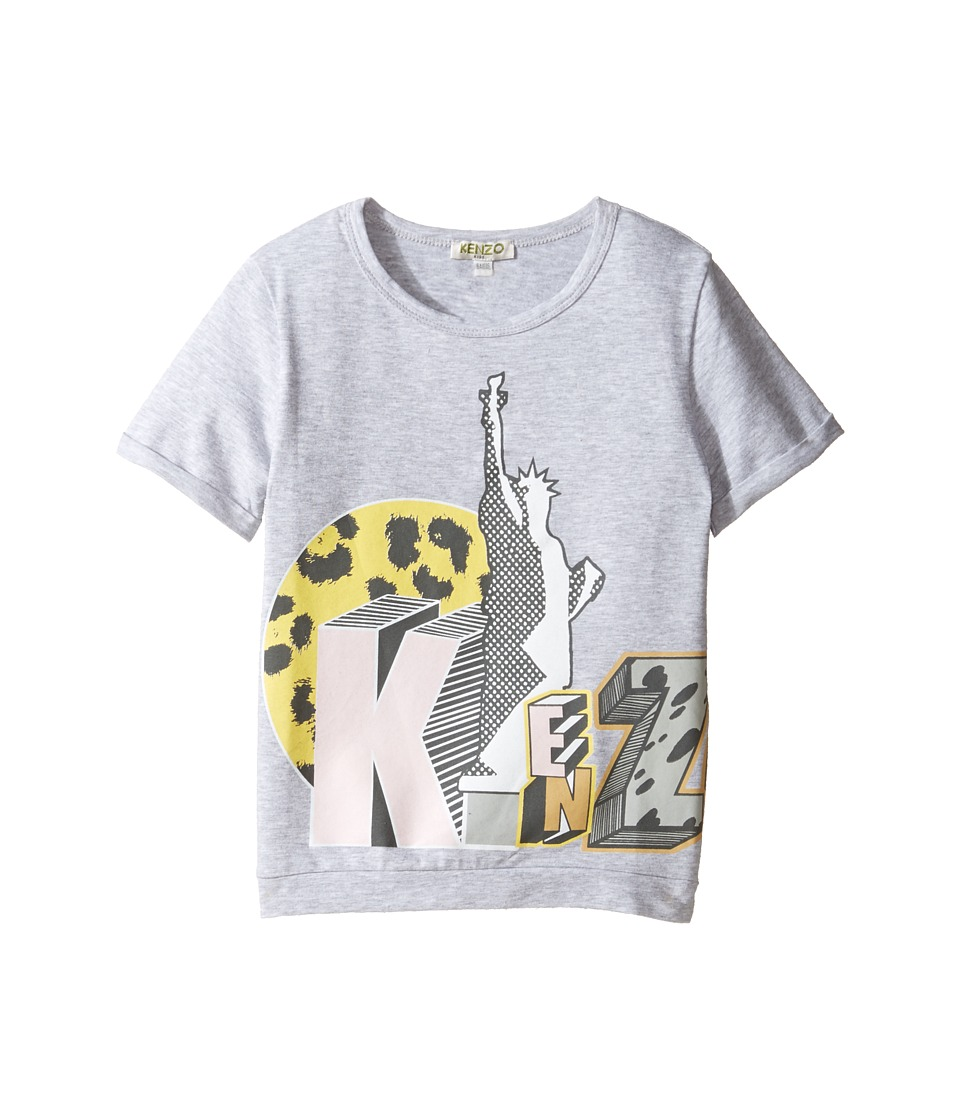 Kenzo Kids - Bali Tee Shirt (Toddler/Little Kids) (Light Marl Grey) Girl's T Shirt