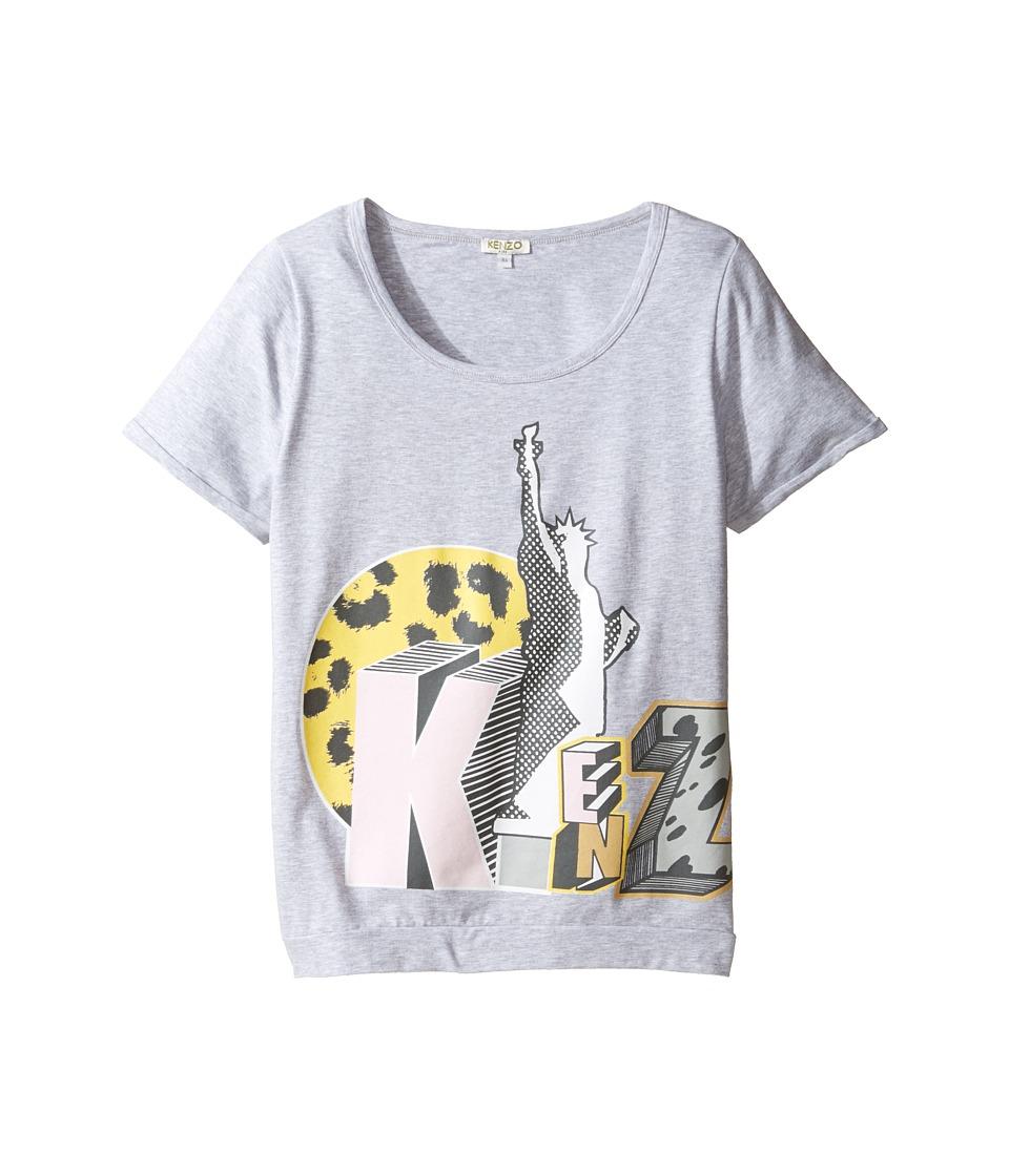 Kenzo Kids - Bali Tee Shirt (Big Kids) (Light Marl Grey) Girl's T Shirt