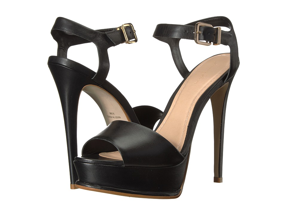 Massimo Matteo - Stiletto Ankle Strap (Black) Women's Shoes