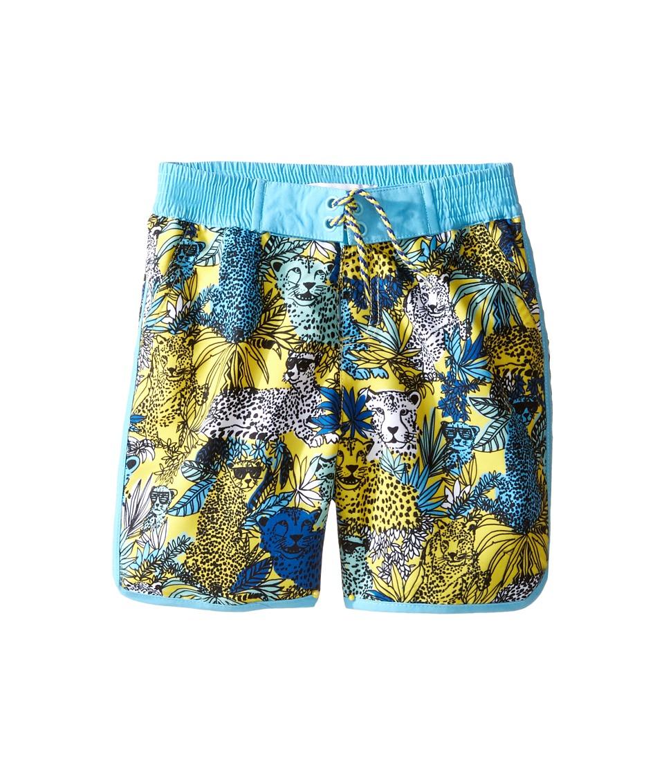 Little Marc Jacobs - Surfer Shorts (Toddler/Little Kids) (Jaune/Bleu) Boy's Shorts