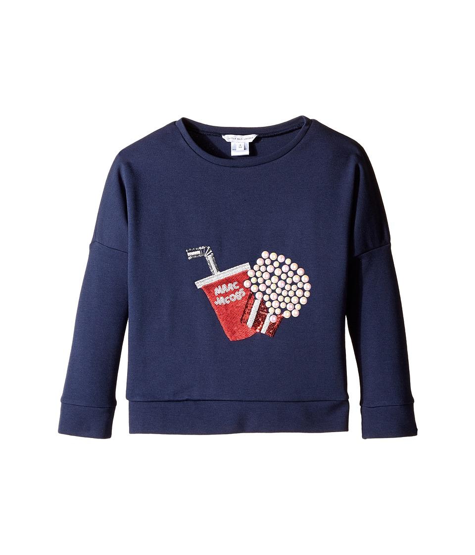 Little Marc Jacobs - Fancy Milano Sweater (Little Kids/Big Kids) (Dark Indigo) Girl's Sweater