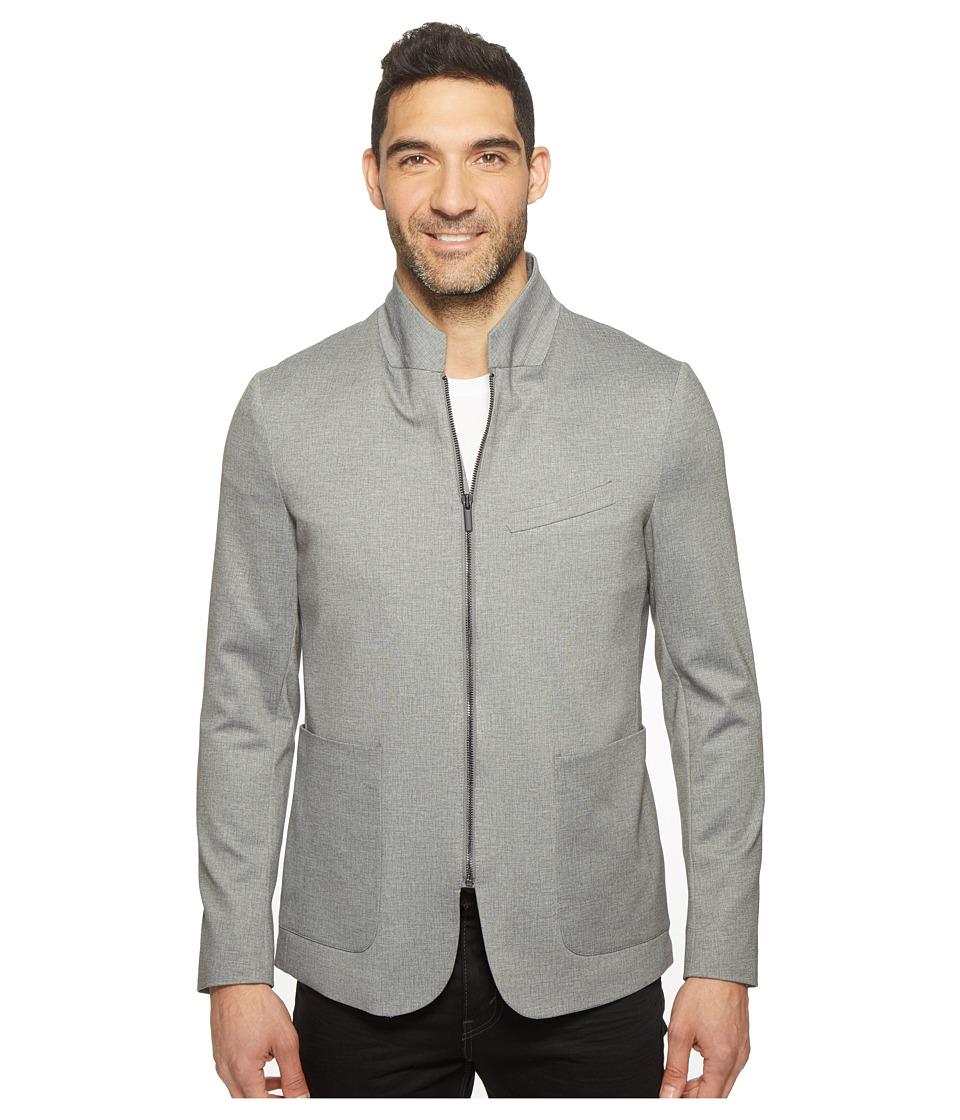 Kenneth Cole Sportswear - Zip Front Blazer (Dim Grey Combo) Men's Jacket