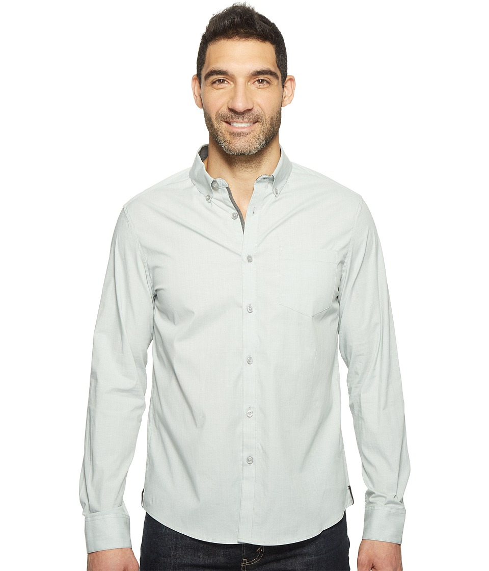 Kenneth Cole Sportswear - Long Sleeve Stretch End on End Shirt (Highline Green Combo) Men's Clothing