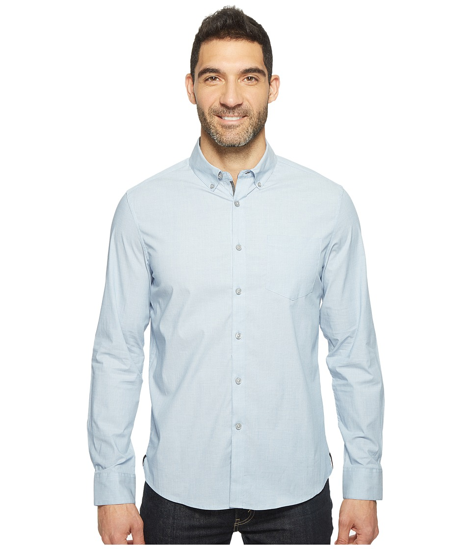 Kenneth Cole Sportswear - Long Sleeve Stretch End on End Shirt (Bright Cobalt Combo) Men's Clothing