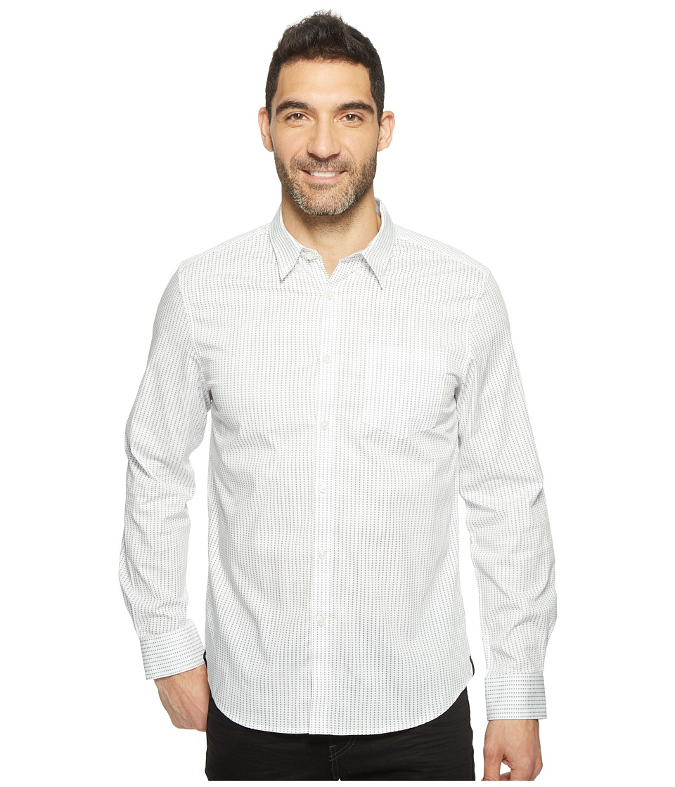 Kenneth Cole Sportswear - Long Sleeve Diamond Print Shirt (White Combo) Men's Clothing