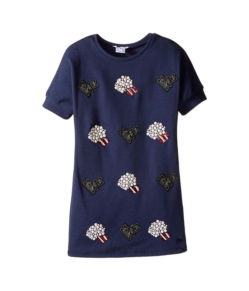 Little Marc Jacobs - Pop Corn Dress (Little Kids/Big Kids) (Dark Indigo) Girl's Dress