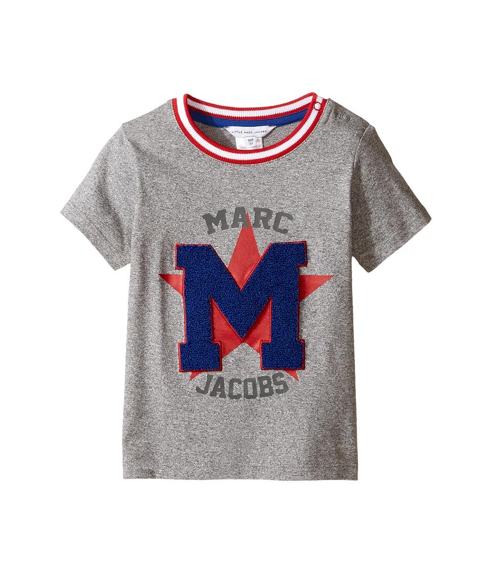 Little Marc Jacobs - Koala Or Print Short Sleeve Tee Shirt (Infant) (Gris Fonce) Boy's T Shirt