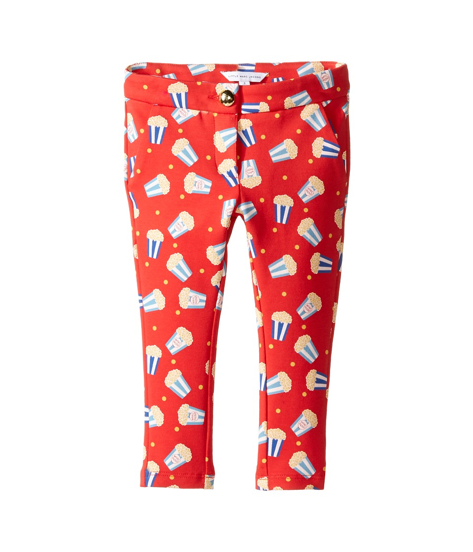 Little Marc Jacobs - All Over Printed Pop Corn Trousers (Toddler) (Pop Red) Girl's Casual Pants