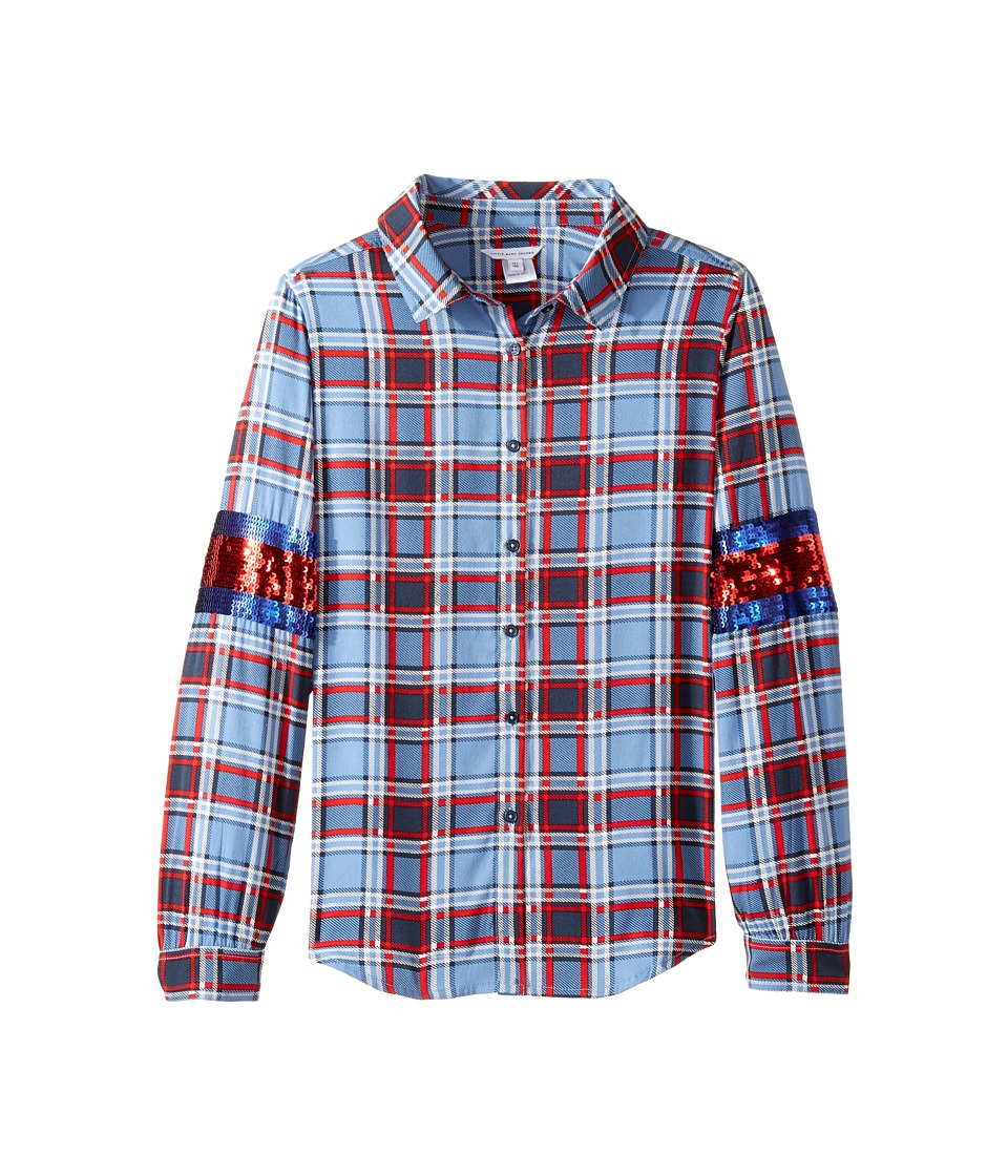 Little Marc Jacobs - Long Sleeve Shirt (Big Kids) (Multicolor) Girl's Clothing