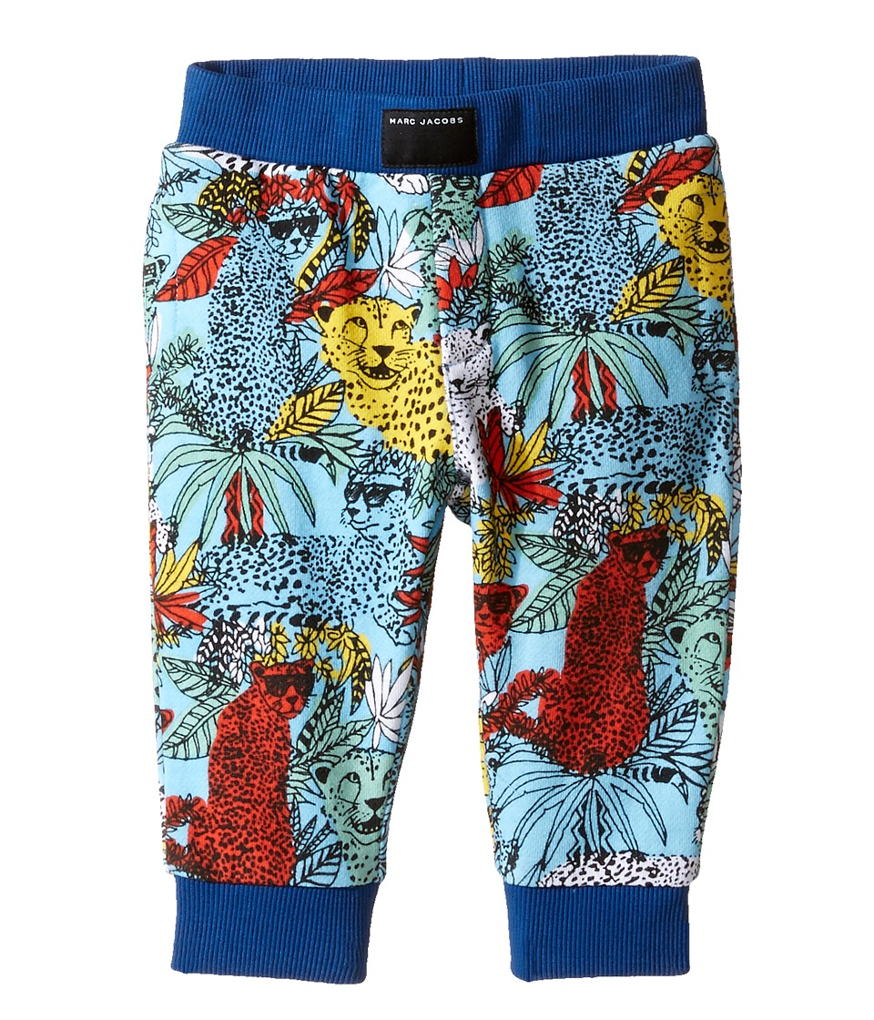Little Marc Jacobs - All Over Printed Trousers (Infant) (Bleu/Jaune) Boy's Casual Pants