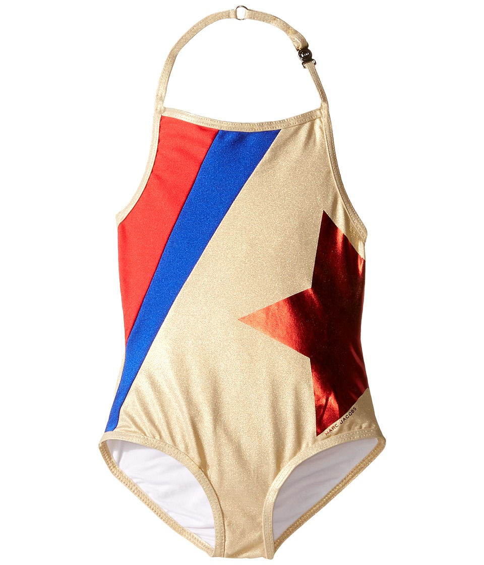 Little Marc Jacobs - One-Piece Star Swimsuit (Toddler/Little Kids) (Cobalt) Girl's Swimsuits One Piece
