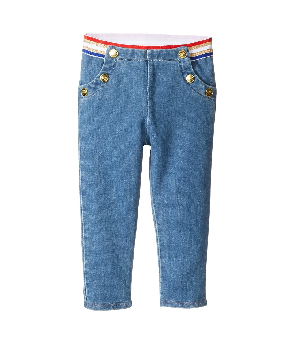 Little Marc Jacobs - Denim Effect Trousers (Infant) (Stone) Girl's Jeans